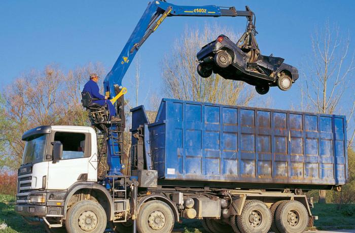 Grue EPSILON pour activité recyclage