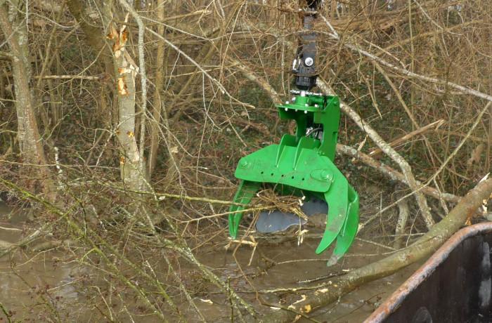 Grappin coupe arbre avec fonction TILT